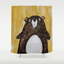 Mr. Bear Shower Curtain