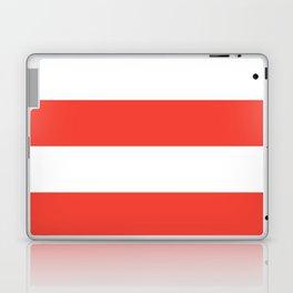 Even Horizontal Stripes, Red and White, XL Laptop & iPad Skin