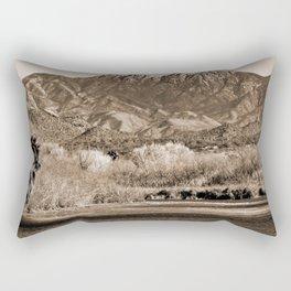 Salt River and Four Peaks in Sepia Rectangular Pillow