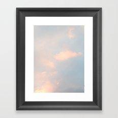 edinburgh sky Framed Art Print