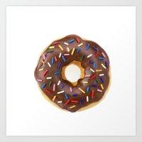 doughnut Art Prints featuring Doughnut by L.A.G.