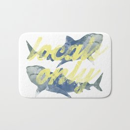 Locals Only Watercolor Bath Mat