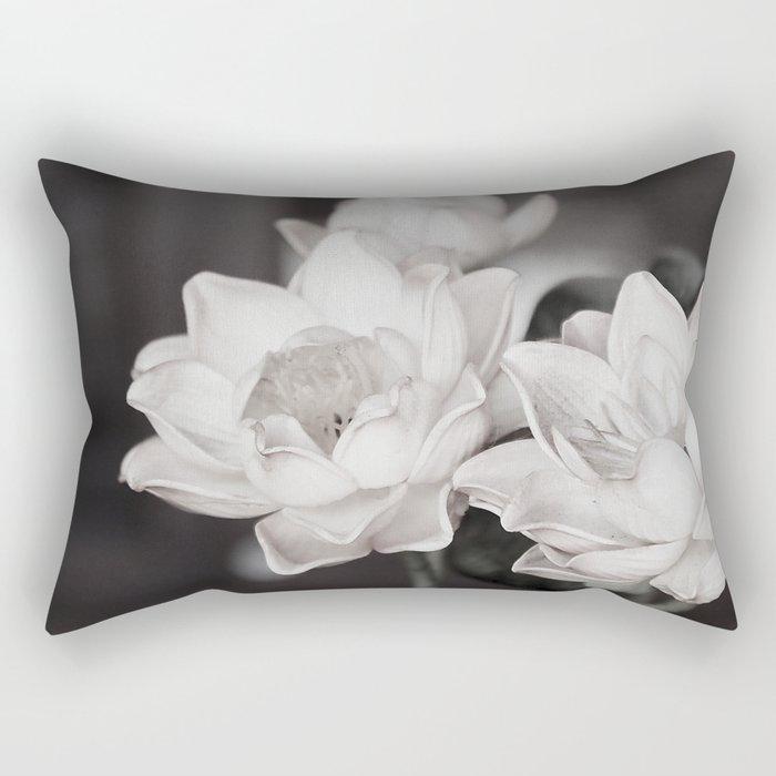 Lovely Water Lily Rectangular Pillow