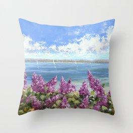 Lilac Bay Throw Pillow