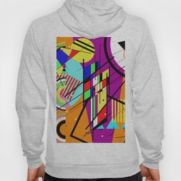Crazy Retro 2 - Abstract, geometric, random collage Hoody