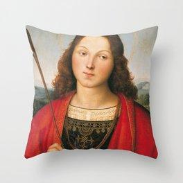 "Raffaello Sanzio da Urbino ""Saint Sebastian"", 1501-1502 Throw Pillow"