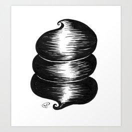 ceci n'est pas une coiffe Art Print