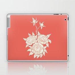 salmon pink  flourishing peonies Laptop & iPad Skin