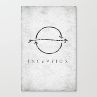 inception Canvas Prints featuring Inception by Tony Vazquez
