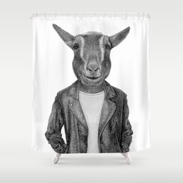 Don Pedro Old Goats Are Cool Shower Curtain