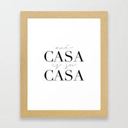 HOME DECOR,Home Sweet Home Sign,Mi Casa Es Su Casa,Modern Art,Spanish Decor,Spanish Sign,Home Sign Framed Art Print