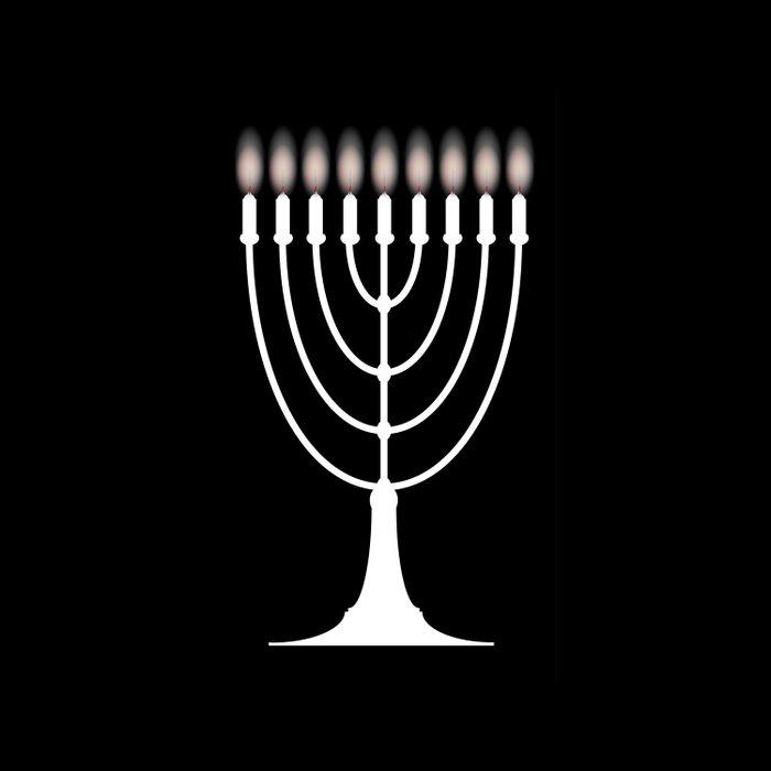Menorh With Nine Candles Comforters