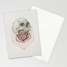 Skull Rose Geo Stationery Cards