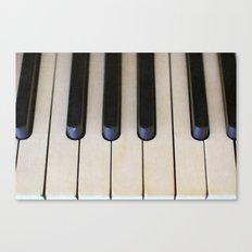 Antique Piano Keys Canvas Print