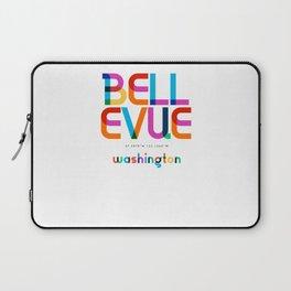 Bellevue Washington Mid Century, Pop Art, Mondrian Laptop Sleeve