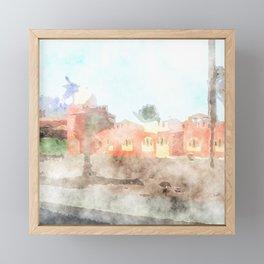 watercolor impressions - Egypt 05 Framed Mini Art Print