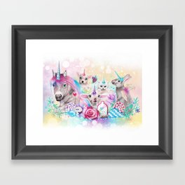We All Just Want to be Unicorns Framed Art Print
