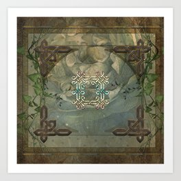 Wonderful decorative celtic knot Art Print