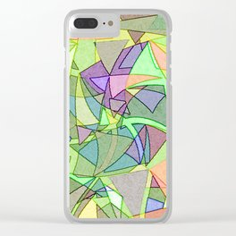 Multi Colored Light Twirling Geometric Clear iPhone Case