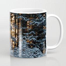 Snow Covered Pine Trees Photography Print Coffee Mug