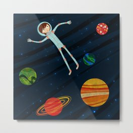 Spacewalker Metal Print