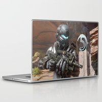 guardians of the galaxy Laptop & iPad Skins featuring Halo5 Guardians by ezmaya