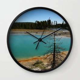 Amazing Hot Spring Colors Wall Clock