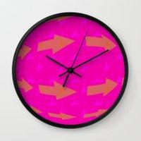 arrows Wall Clocks featuring ARROWS by Latidra Washington