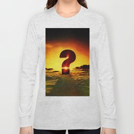 Vintage 1970's Question Mark With Sunset Long Sleeve T-shirt