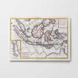 Vintage Map of Indonesia (1780) Metal Print