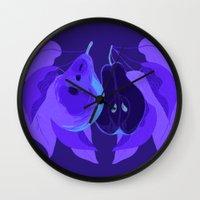 pear Wall Clocks featuring Pear by Marlene Pixley