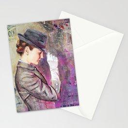 Grey Fedora Stationery Cards