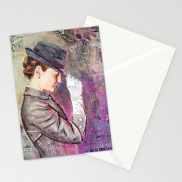 Grey Fedora Stationery Cards