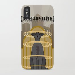 Elektrostatische Katze [Staticat] iPhone Case