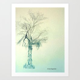 Crooked Tree Art Print
