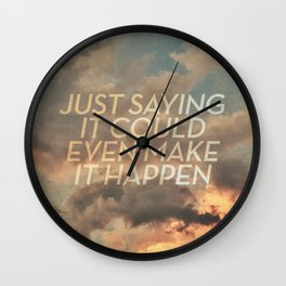 cloudbusting Wall Clock