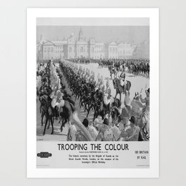 retro vintage Trooping the Colour poster Art Print