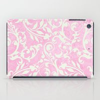 shabby chic iPad Cases featuring Shabby Chic pink damask by Miriam Hahn