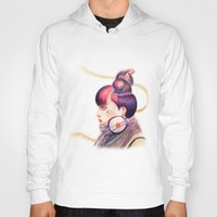 dj Hoodies featuring Sweet Dj by fawnfruits