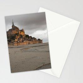 Golden Hour at Le Mont Saint-Michel Stationery Cards