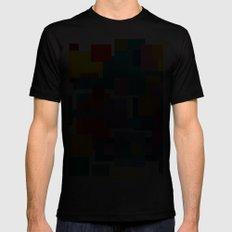 Color Blocks #4 Mens Fitted Tee Black MEDIUM