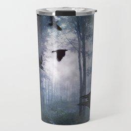 Misty Forest Crows Travel Mug