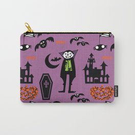 Cute Dracula and friends purple #halloween Carry-All Pouch