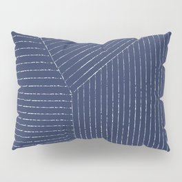 Lines / Navy Pillow Sham
