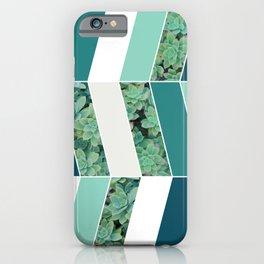 Teal Herringbone #society6 #teal #succulent iPhone Case