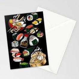 Sushi Black Stationery Cards