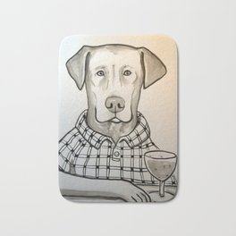 Wine Labrador Bath Mat