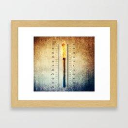 matchstick thermometer Framed Art Print