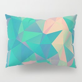 Fractured, Colorful Triangles Geometric Shapes Pillow Sham