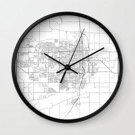 Minimal City Maps - Map Of Greeley, Colorado, United States Wall Clock